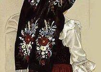 coiffe alsacienne de jeune fille catholique brodée