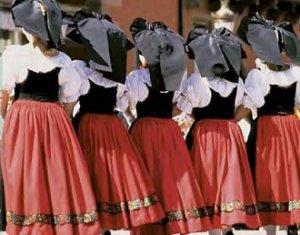 le costume de l'alsacienne, protestant, région du Kochersberg, Pays de Hanau