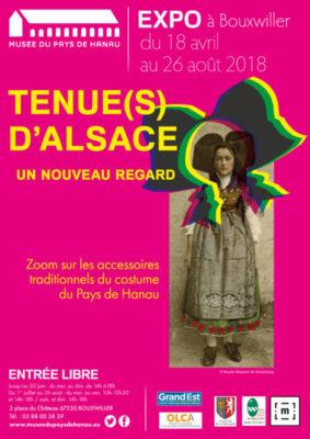 Affiche exposition Tenues d'Alsace un nouveau regard